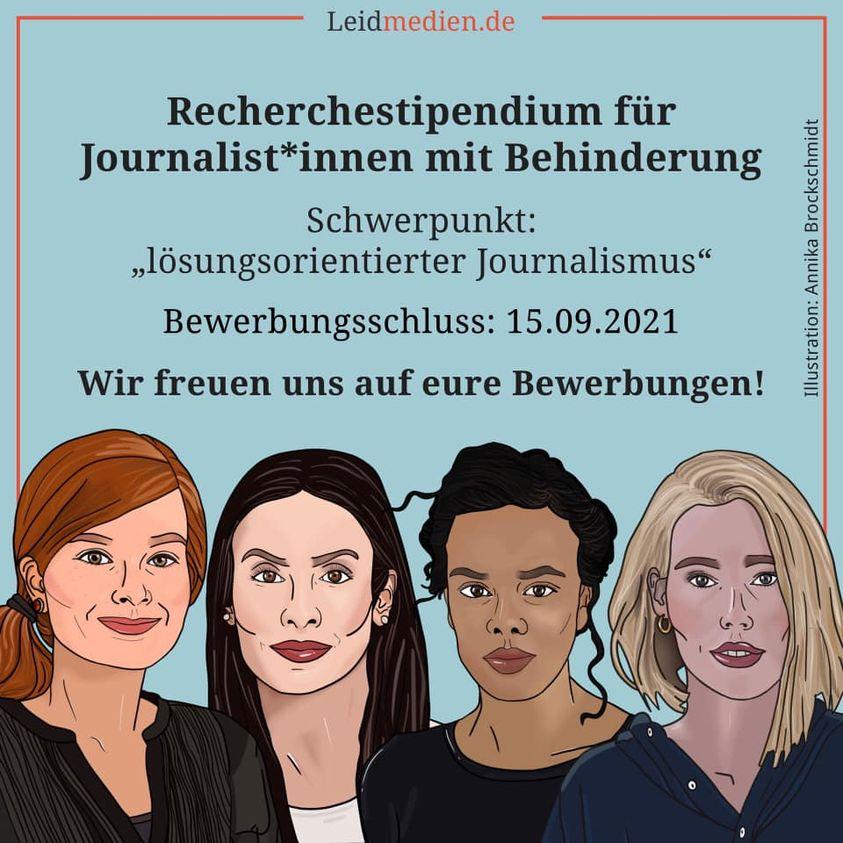 Recherchestipendium für Journalist:innen mit Behinderung 2021