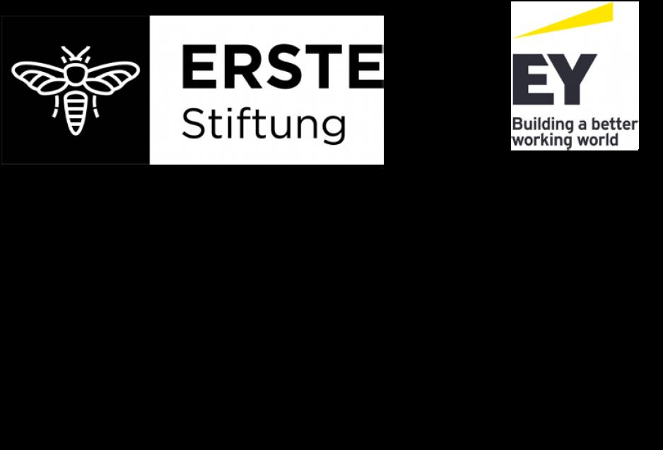 Logos unserer Unterstützer (ERSTE Stiftung und EY - Ernst & Young)
