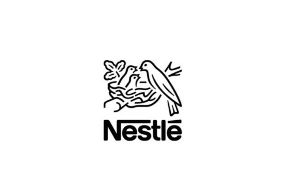 Das Logo von Nestle